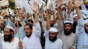Anti-US protest in Karachi