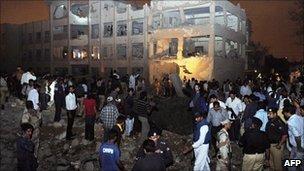 Aftermath of Karachi Sheraton bombing