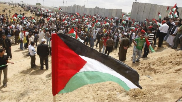 Palestinians have been rallying to mark the 63rd anniversary of the day they call the Nakba or Catastrophe - the creation of the state of Israel in 1948.