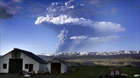 Grimsvotn eruption 21 May 2011