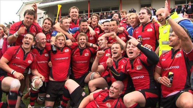 A harmadosztály győztese: Jersey RFC - forrás: www.bbc.co.uk