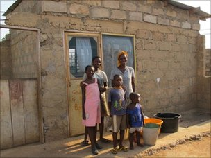 A new home for Jennifer's family, thanks to generous cheques from her US donor