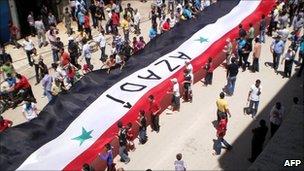 Kurdish pro-democracy demonstration in Qamishli, northern Syria, 27 may