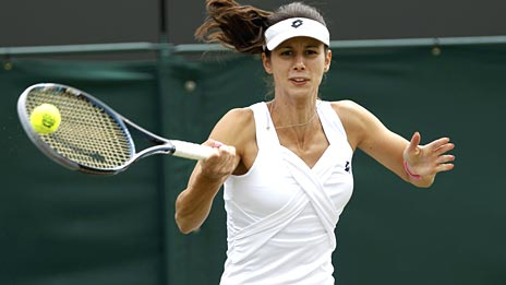 Tsvetana Pironkova in action