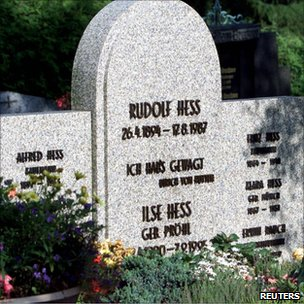 Grave of Rudolf Hess in Wunsiedel, Germany (file image)