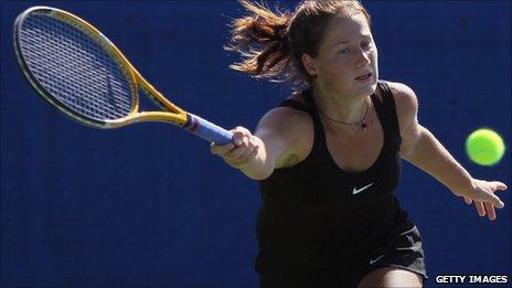Serbian tennis player Bojana Jovanovski