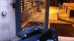 McDonald's window broken