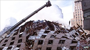 The remains of World Trade Center Building 7