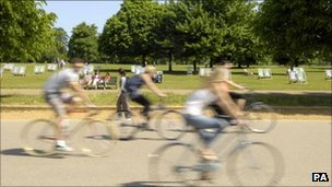 Cyclists in Hyde Park
