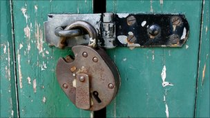 Open padlock, BBC