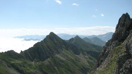 """Part of the """"Chemin de la Liberte"""" in the Pyrenees"""