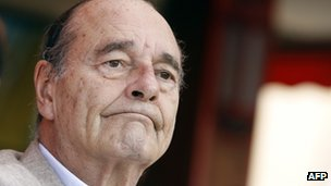 Former French President Jacques Chirac (file pic Aug 2011)