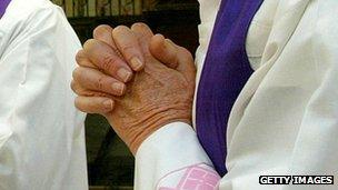 Catholic prayers - file pic