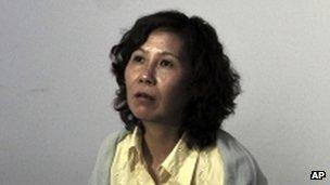 Ni Yulan in Beijing hotel (30 June 2010)