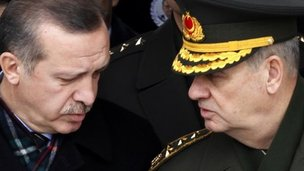 Prime Minister Recep Tayyip Erdogan and Gen Ilker Basbug - archive photo