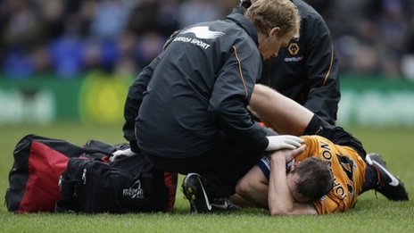 Roger Johnson lays injured