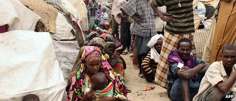Internally displaced people in Somalia, photographed in 2011