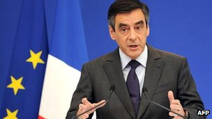 French PM Francois Fillon gives news conference in Paris
