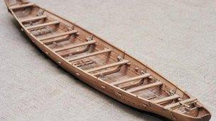 Sewn plank boat