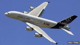 A380 aircraft