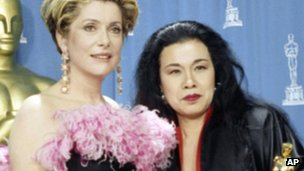 Catherine Deneuve and Eiko Ishioka