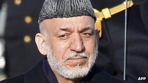 President Hamid Karzai (27 January)