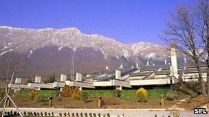 Gran Sasso lab headquarters