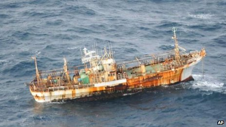 Japanese fishing vessel washed away by tsunami and spotted off Canada (23 March)