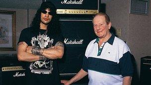 Slash and Jim Marshall