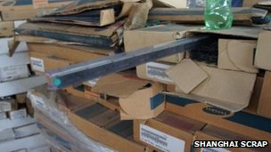 Boxes containing Samsung branded semi-conductors