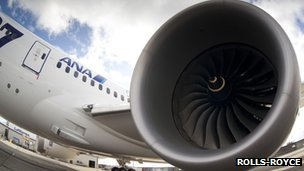Rolls-Royce Trent 1000 engines have been used in the new plane,