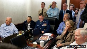 White House watches the raid