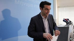 Syriza leader Alexis Tsipras. Photo: 7 May 2012