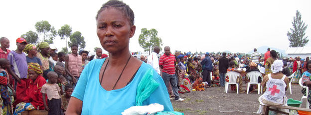 Wema Mambo at Mugunga camp on the outskirts of Goma, May 2012