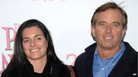 Robert F Kennedy Jr. and Mary Kennedy arrive at the premiere of The Pink Panther 2, New York, NY 3 February 2009