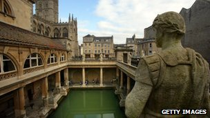 The Roman Baths in Bath