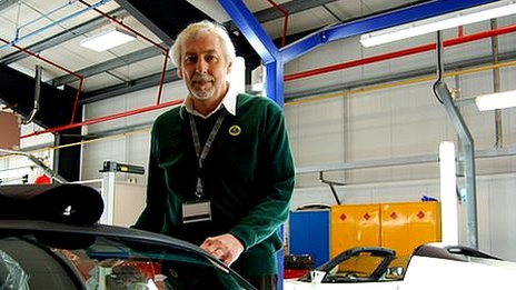John Vigar, manager in charge of continuous improvement, development and training, Lotus Cars