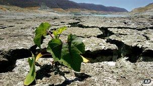 A dried-up reservoir