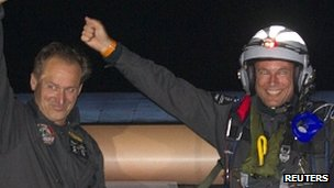 Andre Borschberg and Bertrand Piccard