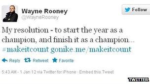 Wayne Rooney Nike tweet