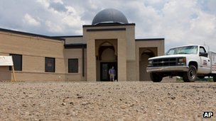 A file photo of the construction site of a mosque being built in Murfreesboro, Tennessee 21 June 2012