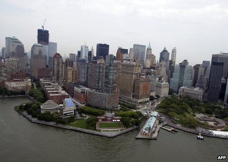 Manhattan skyline, New York, 19 August 2011