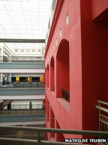 Empty buildings inside the New South China Mall, Dongguang, China (image by Mathilde Teuben)