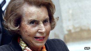 L'Oreal heiress Liliane Bettencourt in October 2011
