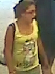 CCTV image of Tia Sharp