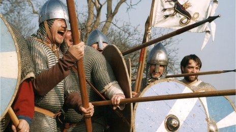 Saxon re-enactors