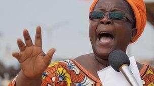 Opposition leader Isabelle Ameganvi (25 August 2012)