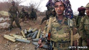 Ethiopian soldiers in Eritrea, 2000