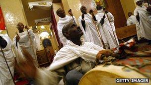 Coptic Orthodox worshippers