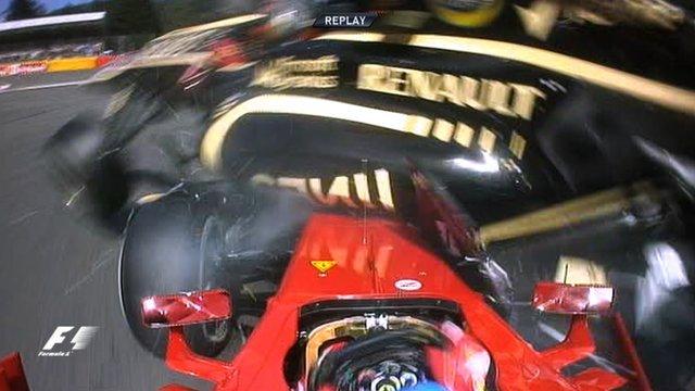 Spectacular crash causes chaos at Belgian GP